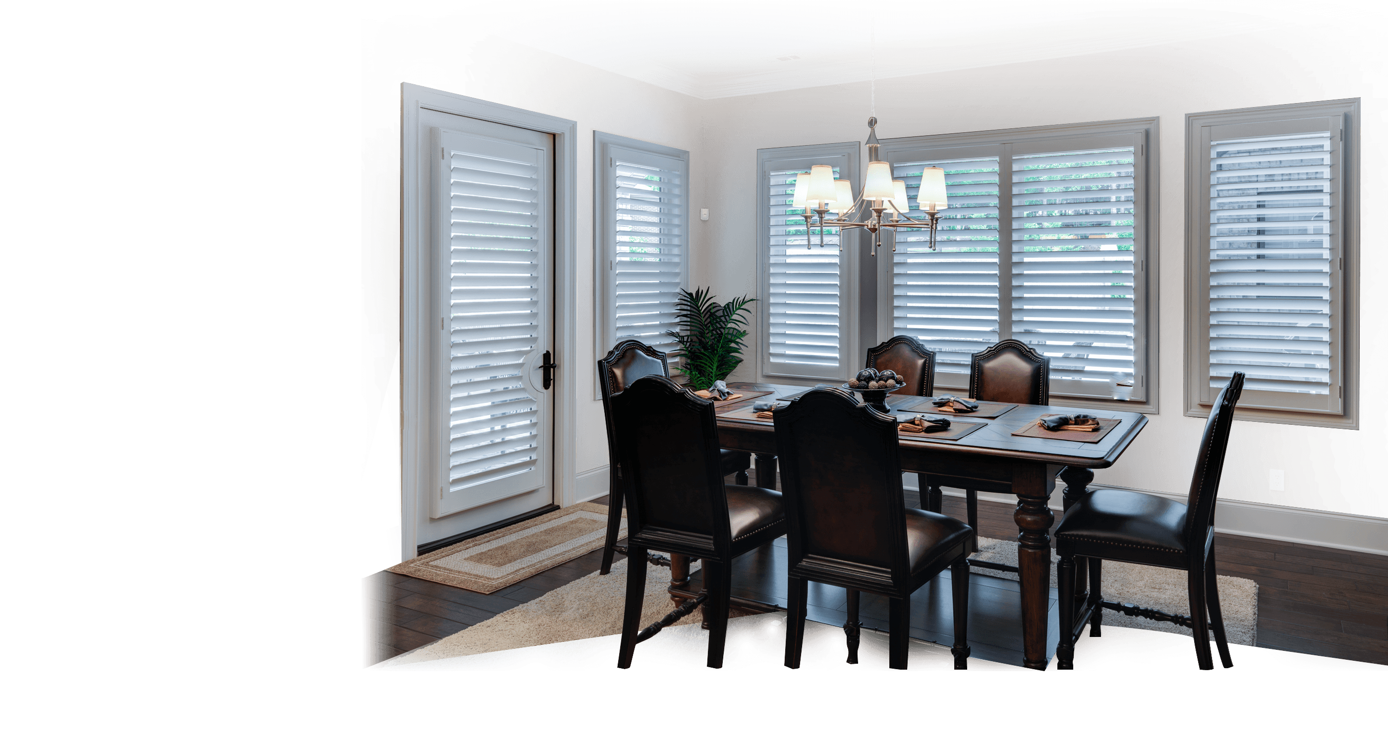 plantation shutters in the dining room